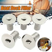 Boat Deck Fill Keyless 50mm 2 Stainless Steel Fuel Filler Flush Mount A C And