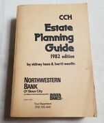 1982 Cch Estate Planning Guide Paperback Book From Northwestern Bank Of Sc