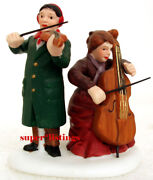 Dept. 56 Chamber Orchestra Two Musician W Cello And Violin Christmas In City 58840