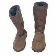 Women's Ugg Australia Brown Classic Tall Suede Snow Boots 5815 Size 7