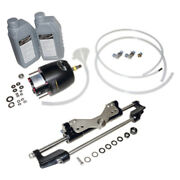 Nib Hydraulic Steering Kit Front Mount Cylinder And Helm 350hp Max Outboard Boat