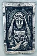 @3.04 Oz Mk Barz Deadly Nighshade 2d Framed Sand Cast Picture .999 Fs By Heber