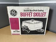 New Nos 1960's Ge Electric Skillet Mid Century Modern Atomic Yellow Mcm