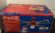 Coca-cola Ceiling Fan S0314 Factory Sealed New Never Opened 1997 Coke Free Ship