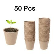 50 Pieces Paper Planting Pots Paper Pot Starter Seeding Herb Seed Nursery Cup