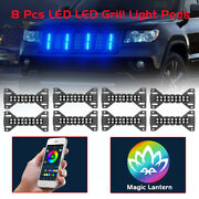8 Pods Rgb Led Grill Lights Chasing Multi Color Wireless Bluetooth App Truck Us