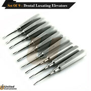 Dental Luxating Elevators 9pcs Set Apical Tooth Extracting Extraction Elevator