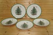 Spode Christmas Tree 5 Dinner Plates   Made In China