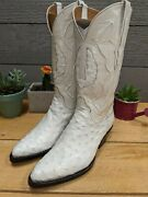 Rare Black Jack Full Quill Pin Ostrich Pure White Color 6.5 Ee Menand039s Boots Vtg
