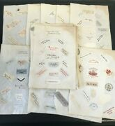 Collection 19 Pages Of 19th Century Victorian Paper Letter Heads Crests