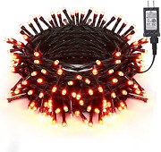 Brizled Orange Lights 78.74ft 240 Led Halloween Connectable With Timer 8 Modes