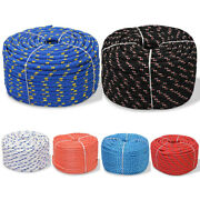 Marine Rope Polypropylene Braided Poly Cord Strong String Boating Sailing Yacht