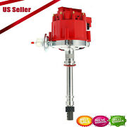 1pcs Ignition Distributor Red Cap For Chevy V8-sbc Bbc 350 454 Us Stock