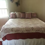 Vintage Crocheted Bedspread Duvet Cover Lace Full Queen 75andrdquox83andrdquo