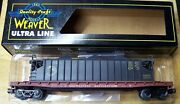 Weaver O Scale Ultra Line 50and039 Flat Car Wm 3 Rail With C And O Repair Car Load