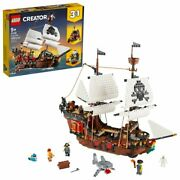 New Lego Creator 3in1 Pirate Ship 31109 Toy Building Set For Kids Age 9+