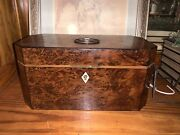 Wooden Tea Caddy With Tin Lined Boxes