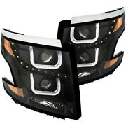 111340 Anzo Headlight Lamp Driver And Passenger Side New For Chevy Lh Rh Tahoe