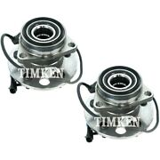 Set-tmsp550308 Timken Set Of 2 Wheel Hubs Front Driver And Passenger Side New Pair