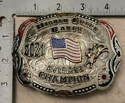 Bnib Bull Riding Rider Rodeo 4th Of July Champion Trophy Buckle Prca Pbr Nfr