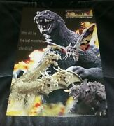 Godzilla Giant Monsters All-out Attack Poster Program Coin Japan Movie Premier