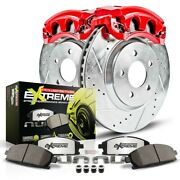 Kc515-26 Powerstop Brake Disc And Caliper Kits 2-wheel Set Rear New For Vw A6