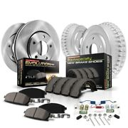 Koe15122dk Powerstop Brake Disc And Drum Kits 4-wheel Set Front And Rear New