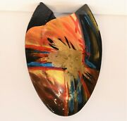 Vintage Murano Art Glass Wall Vase Pocket Sconce Deco 17.5 Inches Large  8.4