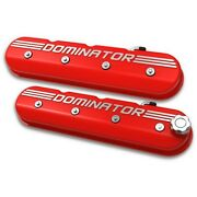 241-121 Holley Valve Covers Set Of 2 New Red For Chevy Chevrolet Camaro Cts Pair