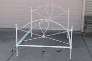 Antique Iron Bed Frame Full Double Size With Side Rails
