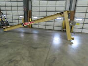 Abell Howe 1/2 Ton Wall Mount Cantilever Work Station Jib Crane 20and039 Span I-beam