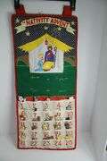 Christmas Advent Calendar Pockets Of Learning Nativity Hanging 1995