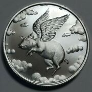 2021 Mint Markers - When Pigs Fly Coin Golf Marker 1/2 Oz .999 Mintage 1000