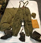 Wwii Army Air Force A-11 Flight Pants Heated Glove A-6 Wool Boots Leather Str
