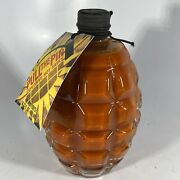 Pull The Pin   Explosive Habanero Hot Sauce   Glass Grenade Container 16 Oz.