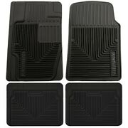 Set-h2151111-4 Husky Liners Floor Mats Set Of 2 Front New Black For Chevy Pair