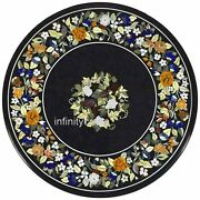 Marble Dining Table Top Inlay Semi Precious Gemstones Kitchen Table 36 Inches