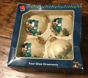 Christmas Krebs Disney Mickey Mouse Unlimited Glass Ball Ornaments Made In Usa