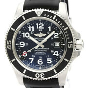Auth Breitling Watch Superocean 2 A17392 Ss Rubber Automatic Black Case44mm F/s