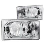 111023 Anzo Headlight Lamp Driver And Passenger Side New For F250 Truck F350 Lh Rh
