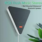 Wall Mounted Remote Control Bluetooth Wireless Tv Speaker Rgb Flush Music Stereo