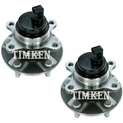 Set-tmha593550 Timken Wheel Hubs Set Of 2 Front Driver And Passenger Side New Pair