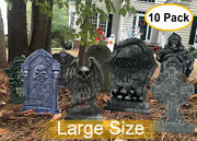 Halloween Yard Signs Tombstone Yard W/ Stakes Gravestone Sign Outdoor Lawn Decor