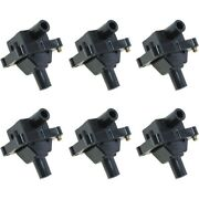 Set-wkp9212099-6 Walker Products Set Of 6 Ignition Coils New For Mercedes E320