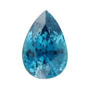 Loose Gemstone Blue Zircon Pear Shape Faceted For Jewelry Gift Making Ct 12.05