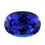 Loose Gemstone Aaaa Vivid Blue Tanzanite Oval Faceted For Jewelry Making Ct 6.15