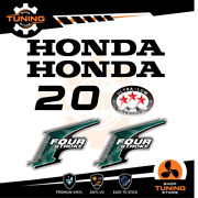 Outboard Marine Engine Stickers Decal Kit Honda 20 Hp Four Stroke - A