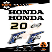 Outboard Marine Engine Stickers Decal Kit Honda 20 Hp Four Stroke - B