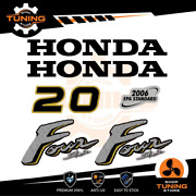 Outboard Marine Engine Stickers Decal Kit Honda 20 Hp Four Stroke - C