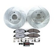 K2067-36 Powerstop Brake Disc And Pad Kits 2-wheel Set Front New For Chevy Yukon